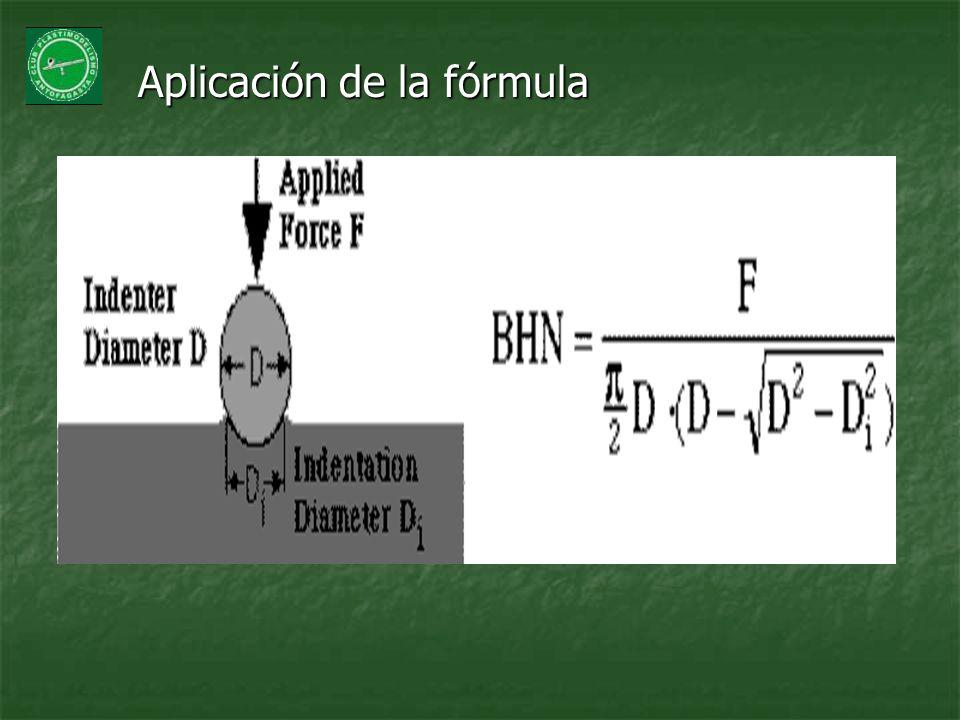 Aplicación de la fórmula Aplicación de la fórmula