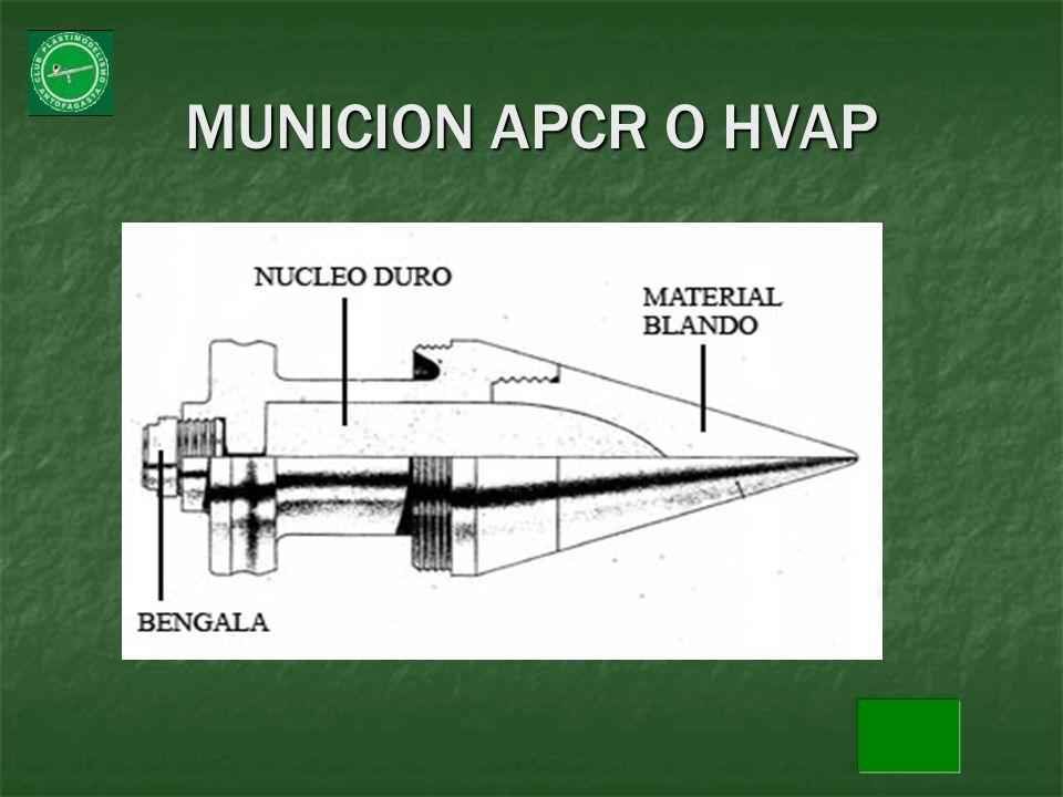 MUNICION APCR O HVAP