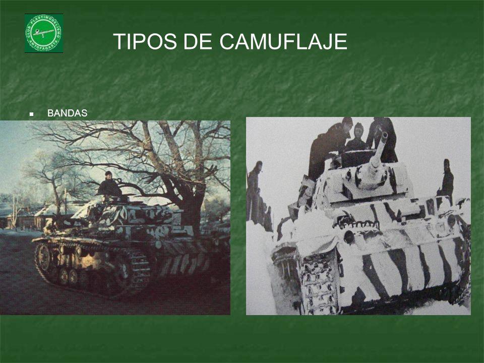 TIPOS DE CAMUFLAJE BANDAS