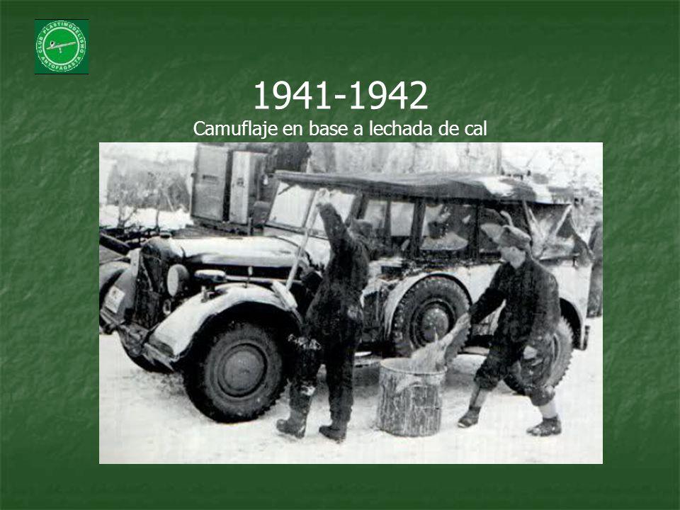 1941-1942 Camuflaje en base a lechada de cal