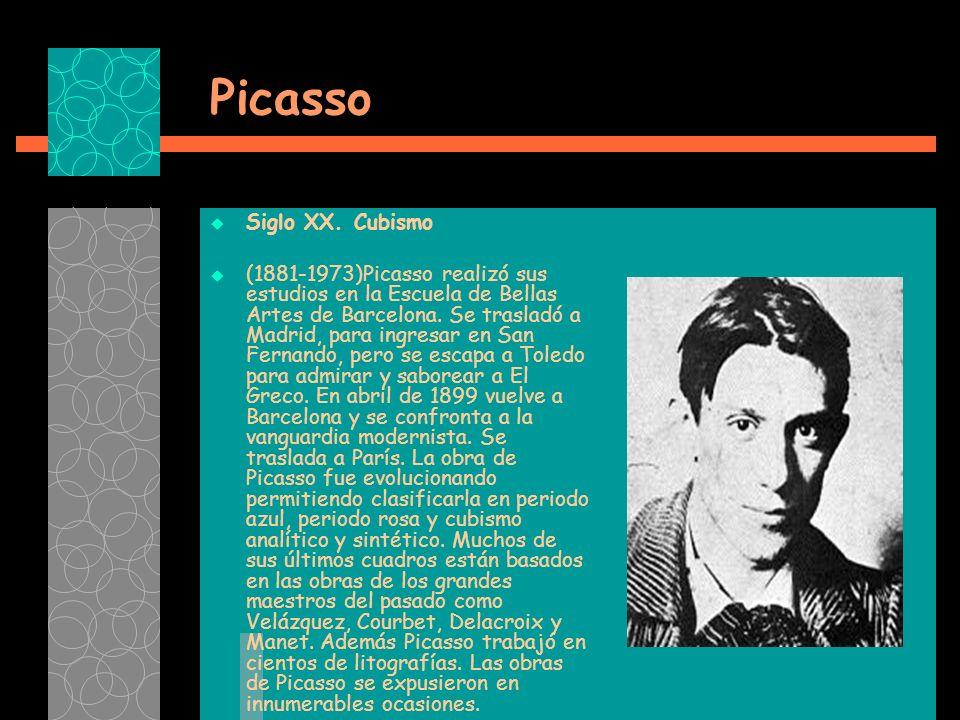 Picasso Siglo XX.