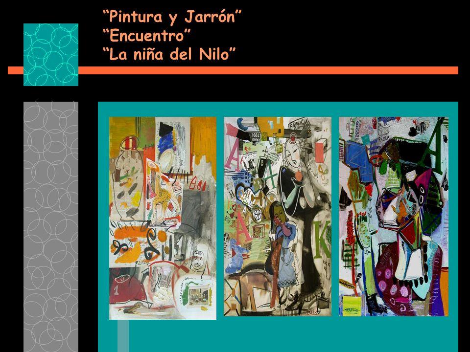 Pintura y Jarrón Encuentro La niña del Nilo