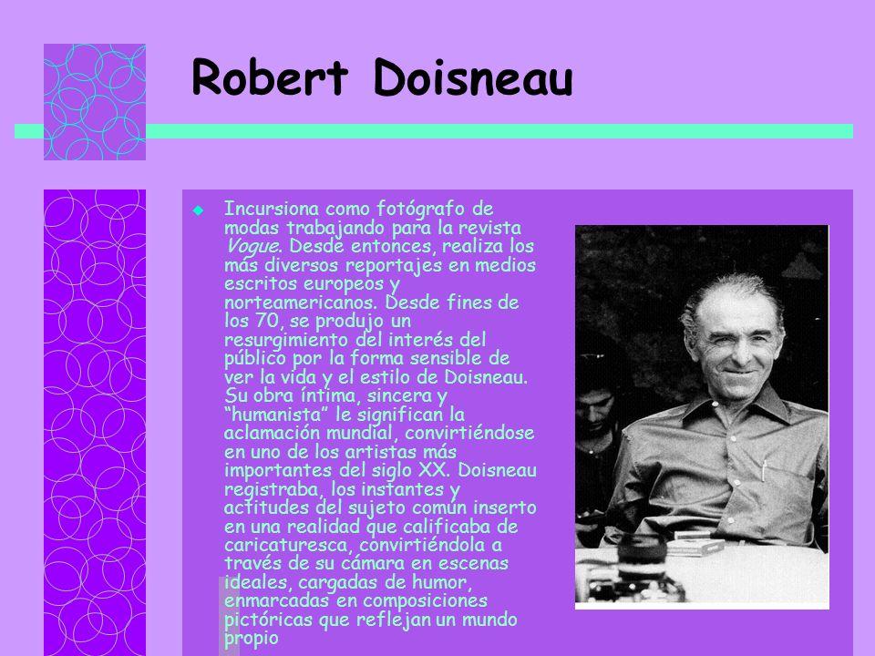 Robert Doisneau Incursiona como fotógrafo de modas trabajando para la revista Vogue.