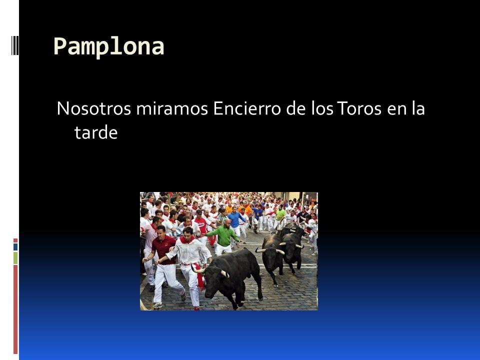 Pamplona Nosotros miramos Encierro de los Toros en la tarde