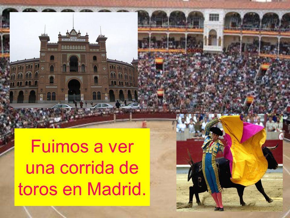 Fuimos a ver una corrida de toros en Madrid.