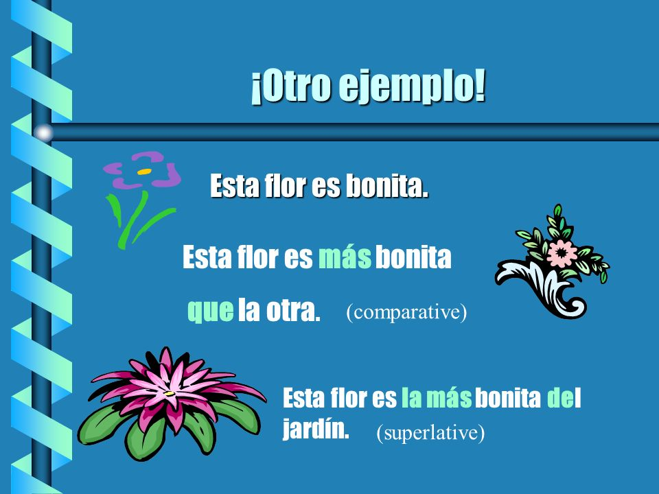 EL FIN REPASO: usa: m á s o menos con que pero usa tan con como con los adjectivos.