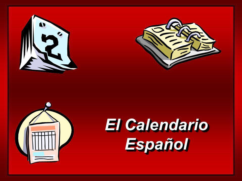 El Calendario Español Español