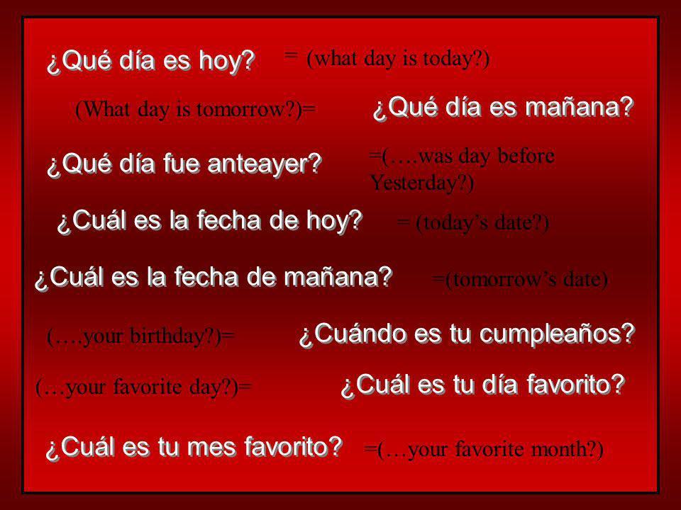 El día de tu santo… Hispanic people are often named after a Catholic saint they often celebrate 2 birthdays su cumpleaños ¡Feliz cumpleaños! el día de