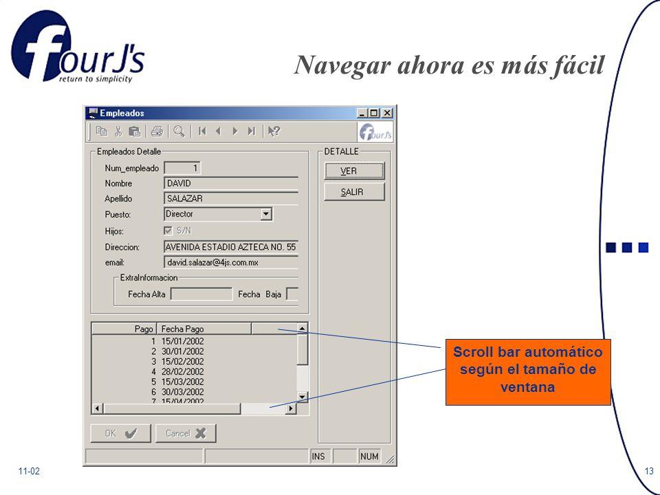 11-0213 Navegar ahora es más fácil Scroll bar automático según el tamaño de ventana