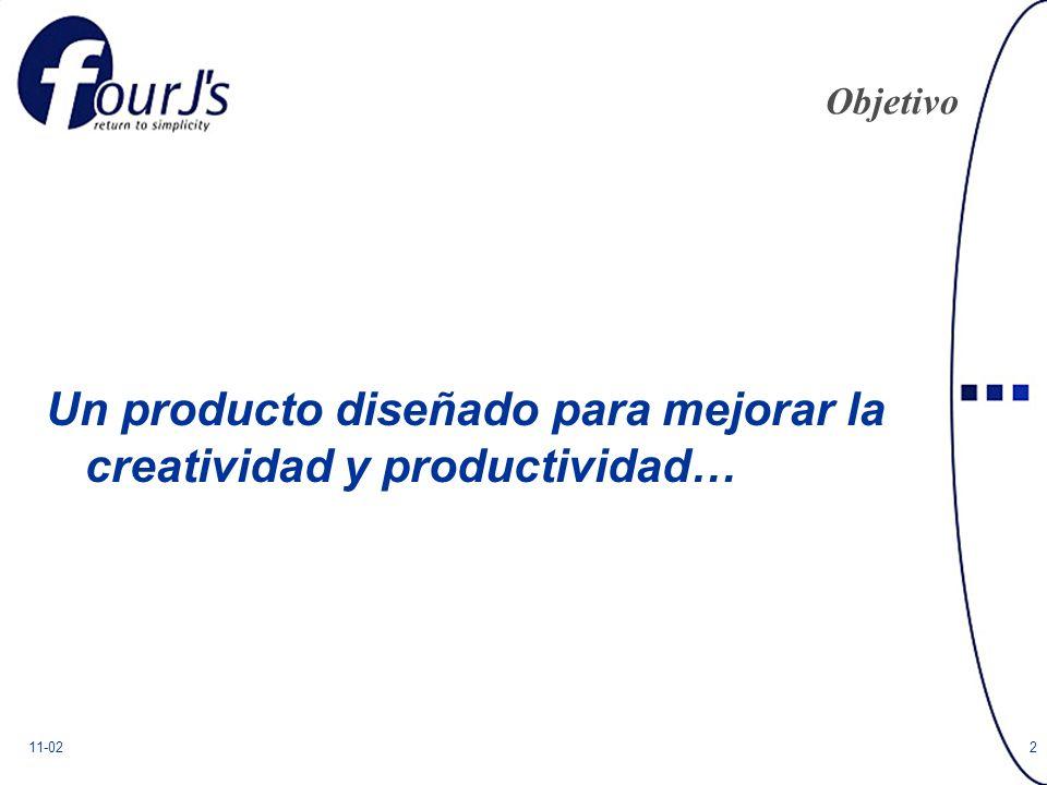 11-022 Objetivo Un producto diseñado para mejorar la creatividad y productividad…