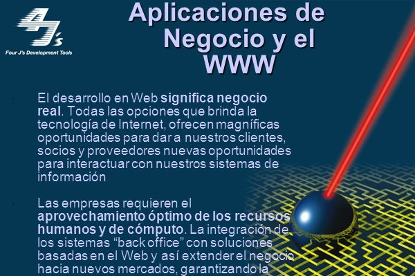 Web en México Oportunidades crecientes Impresionante incremento de usuarios Desarrollo de aplicaciones para las empresas Promoción por el simple hecho del uso de la tecnología Retos latentes Fomentar cultura en línea Brecha oferta-demanda Implementar soluciones más poderosas e ingeniosas