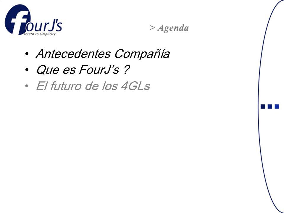Antecedentes Compañía Que es FourJs ? El futuro de los 4GLs > Agenda