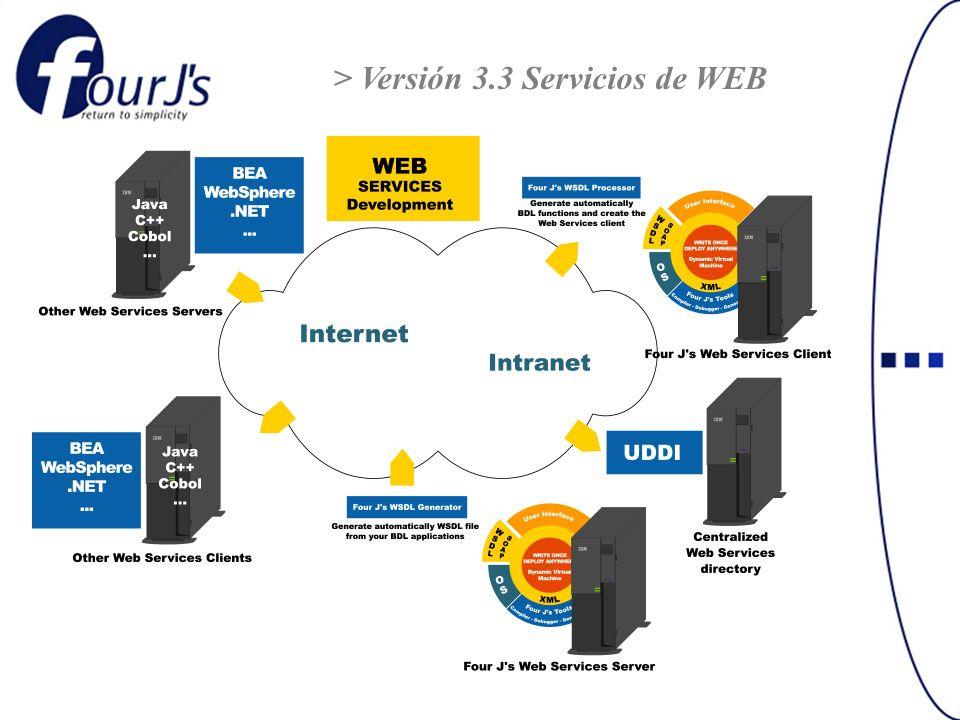 > Versión 3.3 Servicios de WEB
