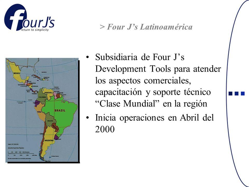 Subsidiaria de Four Js Development Tools para atender los aspectos comerciales, capacitación y soporte técnico Clase Mundial en la región Inicia opera