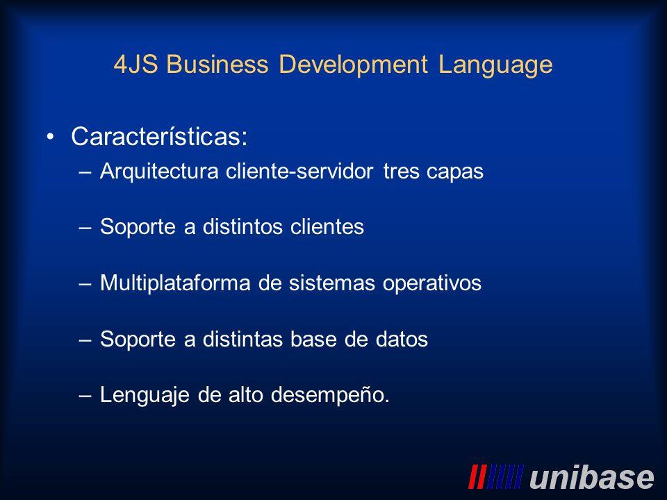 Características: –Arquitectura cliente-servidor tres capas –Soporte a distintos clientes –Multiplataforma de sistemas operativos –Soporte a distintas