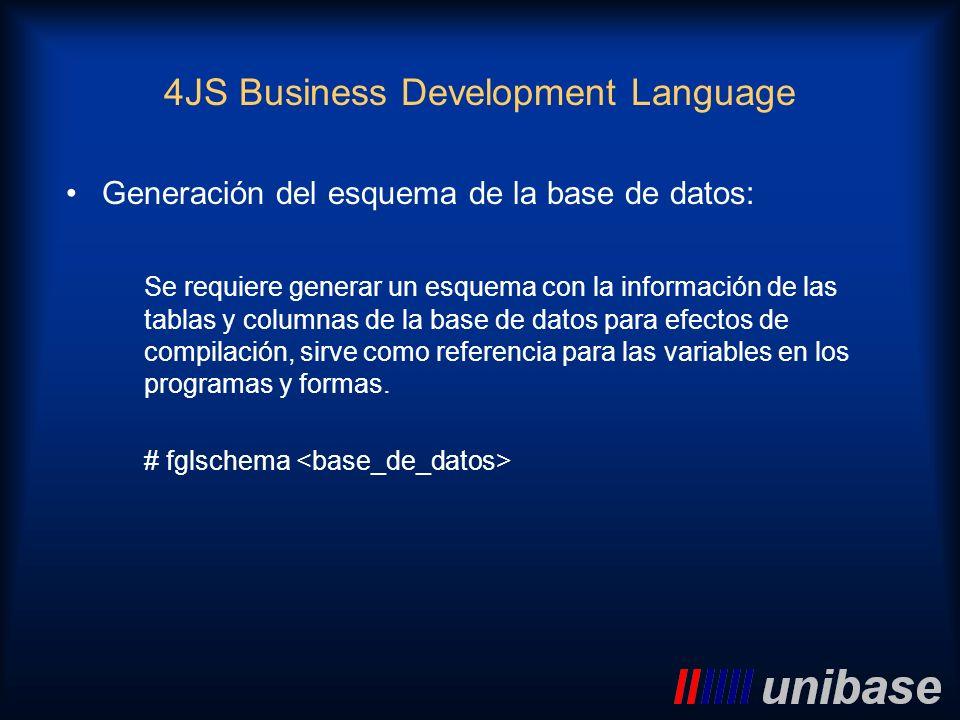 Generación del esquema de la base de datos: Se requiere generar un esquema con la información de las tablas y columnas de la base de datos para efecto