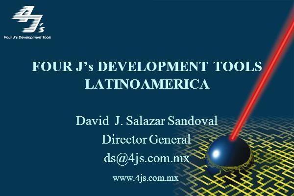 Four Js Development Tools Compañía Europea fundada en 1989 Antes de la adquisición (por IBM) Informix Software fue distribuidor de nuestra tecnología vendiendo nuestro Compilador Universal como (Dynamic 4GL)