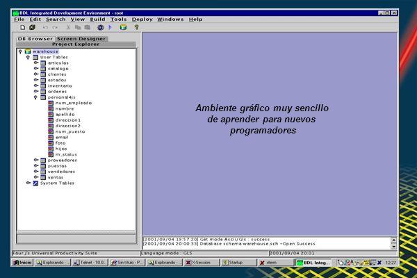 Ambiente gráfico muy sencillo de aprender para nuevos programadores
