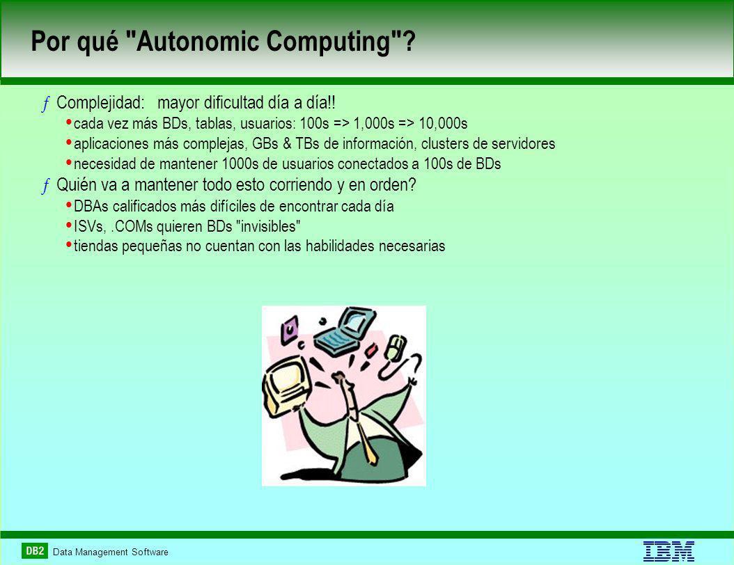 Por qué Autonomic Computing . ƒComplejidad: mayor dificultad día a día!.