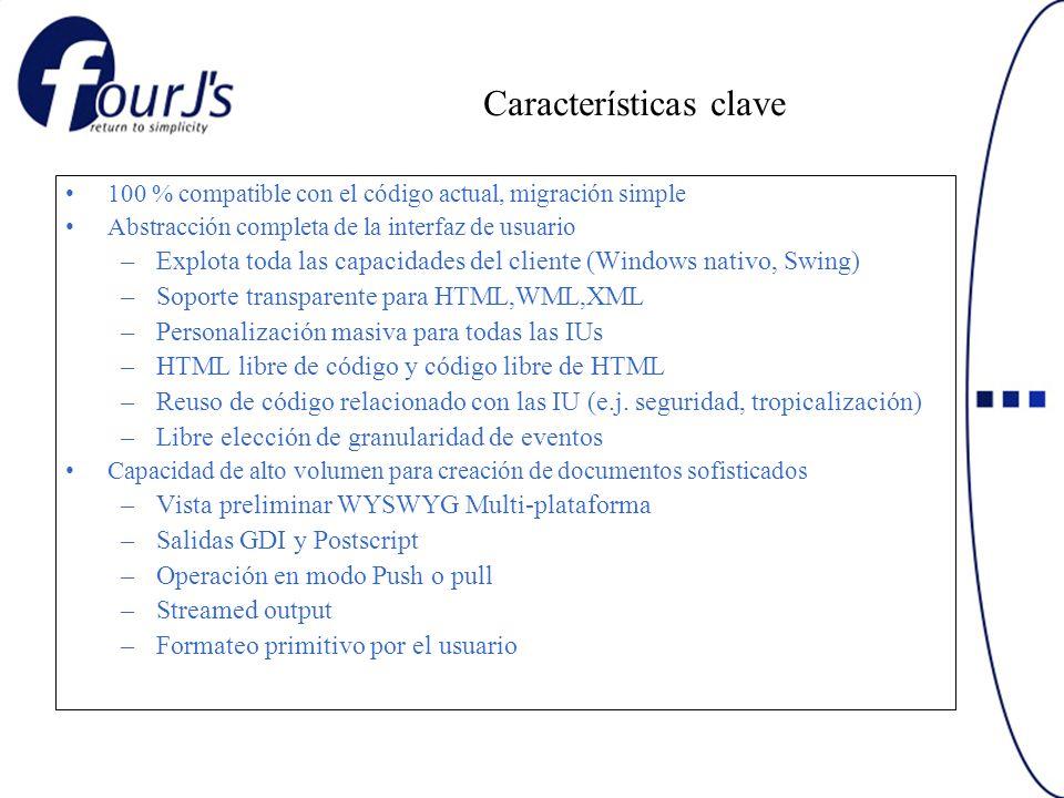 Características clave 100 % compatible con el código actual, migración simple Abstracción completa de la interfaz de usuario –Explota toda las capacid