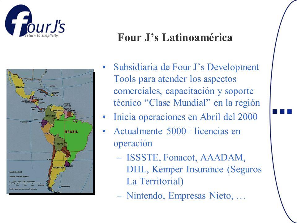 Four Js Latinoamérica Subsidiaria de Four Js Development Tools para atender los aspectos comerciales, capacitación y soporte técnico Clase Mundial en