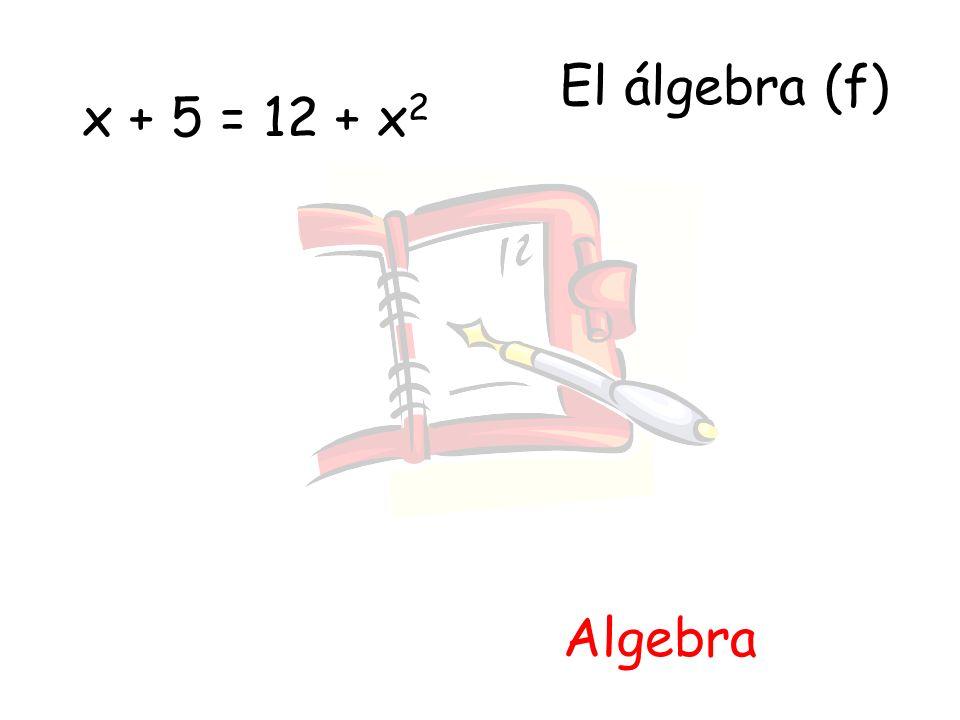 El álgebra (f) Algebra x + 5 = 12 + x 2