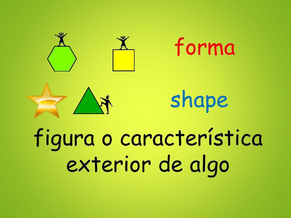 forma figura o característica exterior de algo shape