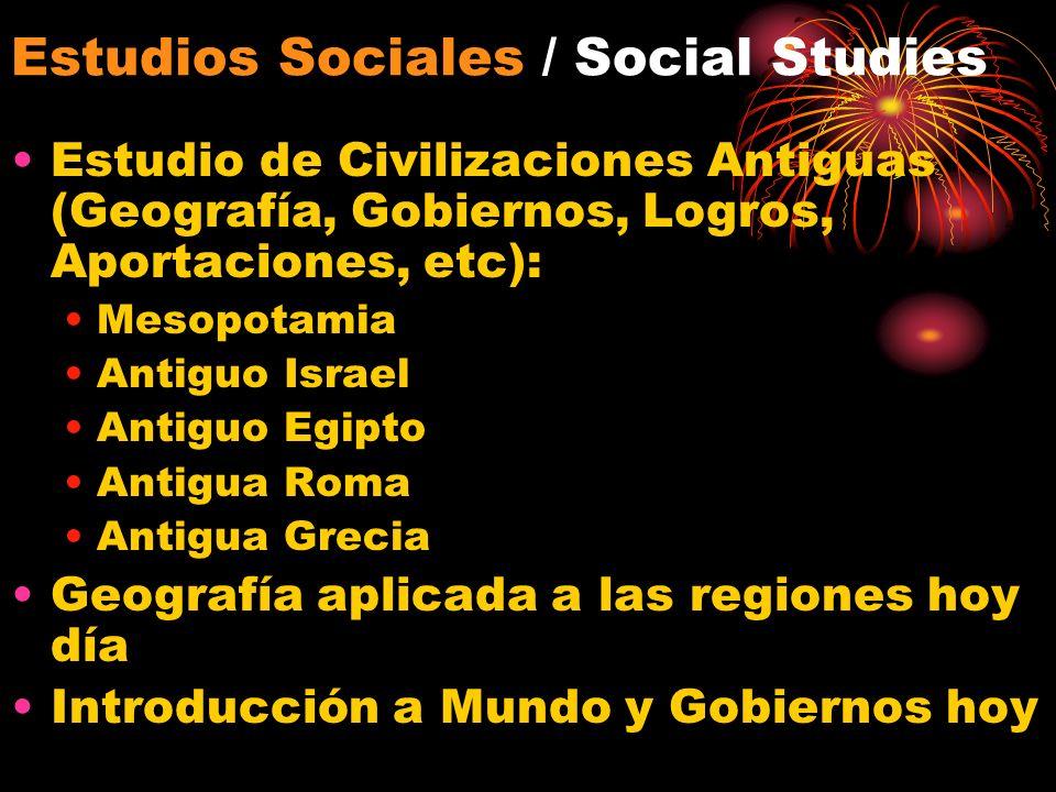 Estudios Sociales / Social Studies Estudio de Civilizaciones Antiguas (Geografía, Gobiernos, Logros, Aportaciones, etc): Mesopotamia Antiguo Israel An