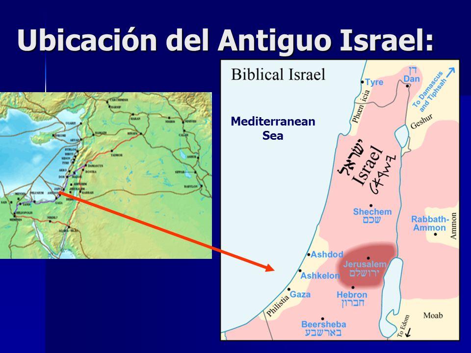 Ubicación del Antiguo Israel: Mediterranean Sea