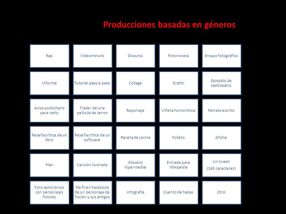 Producciones basadas en géneros