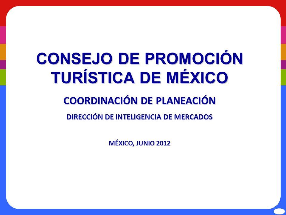 CONSEJO DE PROMOCIÓN TURÍSTICA DE MÉXICO COORDINACIÓN DE PLANEACIÓN DIRECCIÓN DE INTELIGENCIA DE MERCADOS MÉXICO, JUNIO 2012