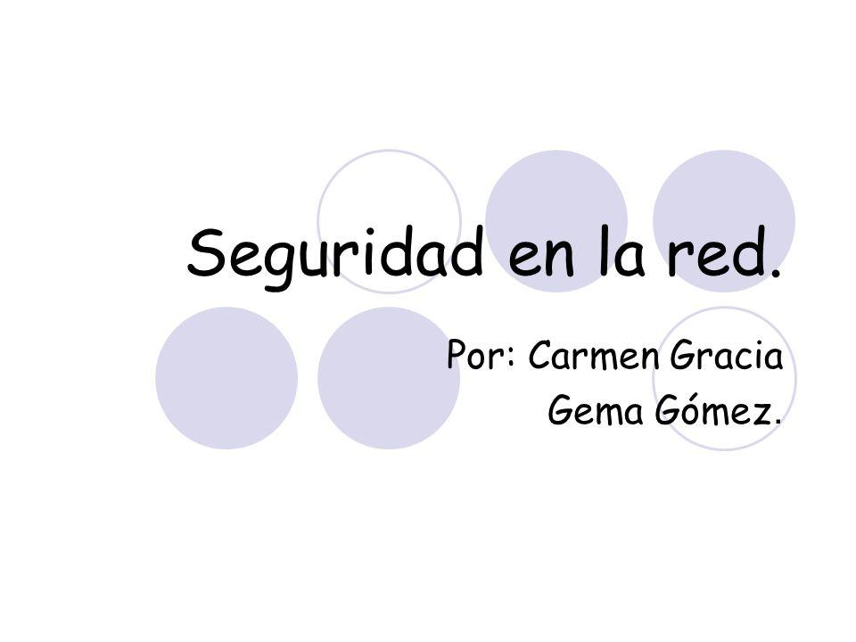 Seguridad en la red. Por: Carmen Gracia Gema Gómez.