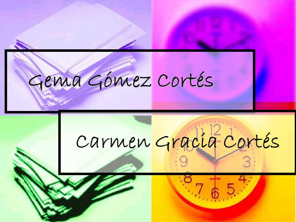 Gema Gómez Cortés Gema Gómez Cortés Carmen Gracia Cortés