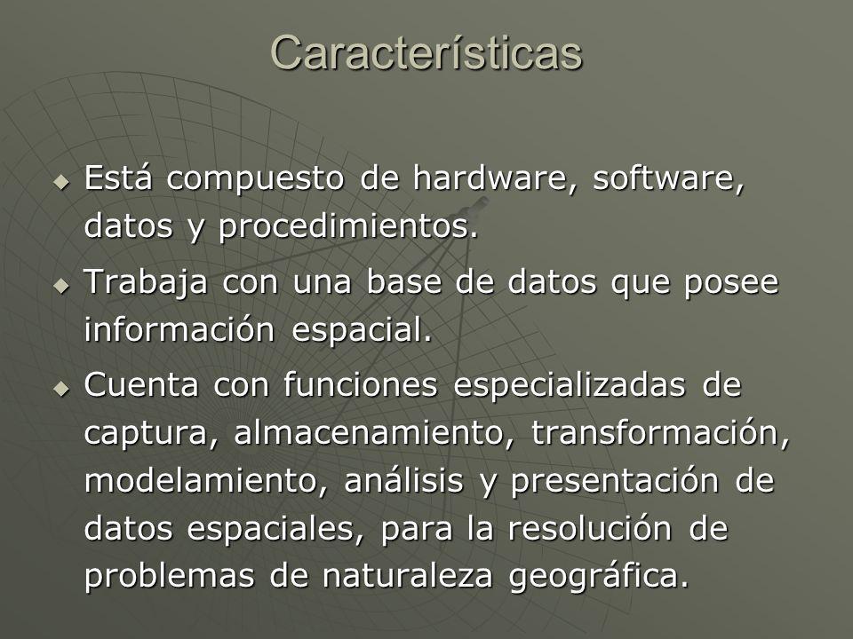 Características Está compuesto de hardware, software, datos y procedimientos. Está compuesto de hardware, software, datos y procedimientos. Trabaja co