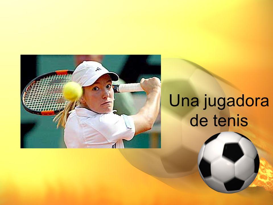 Una jugadora de tenis