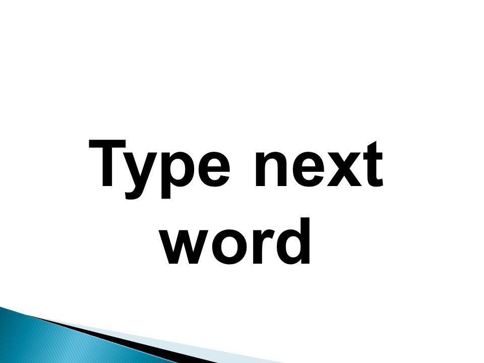 Type 1 st word