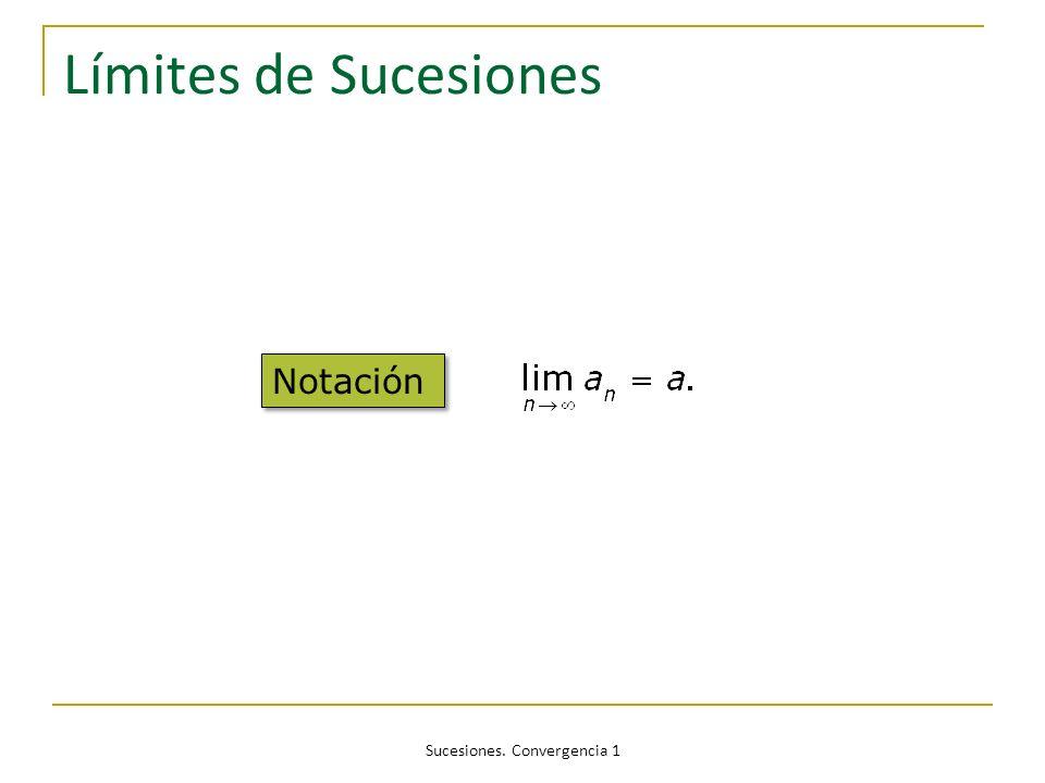 Sucesiones. Convergencia 1 Límites de Sucesiones Notación