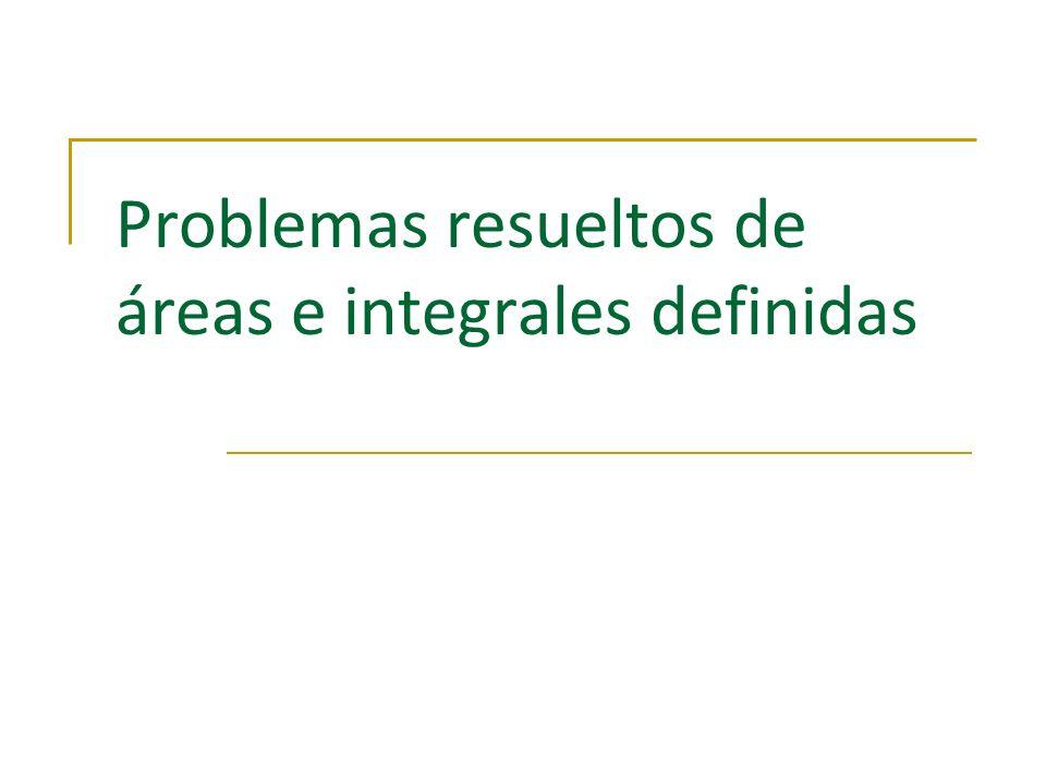 Problemas resueltos de áreas e integrales definidas