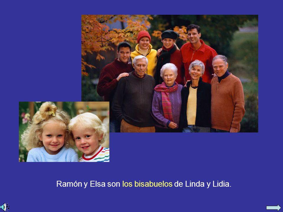 Ramón y Elsa son los bisabuelos de Linda y Lidia.