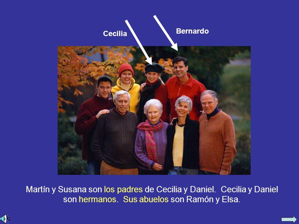 Ramón y Elsa son los abuelos de Cecilia y Daniel.Son los padres de Martín y Laura.