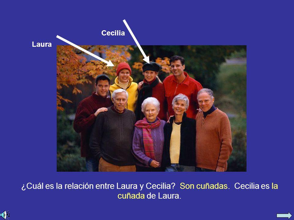 ¿Cuál es la relación entre Laura y Cecilia. Son cuñadas.