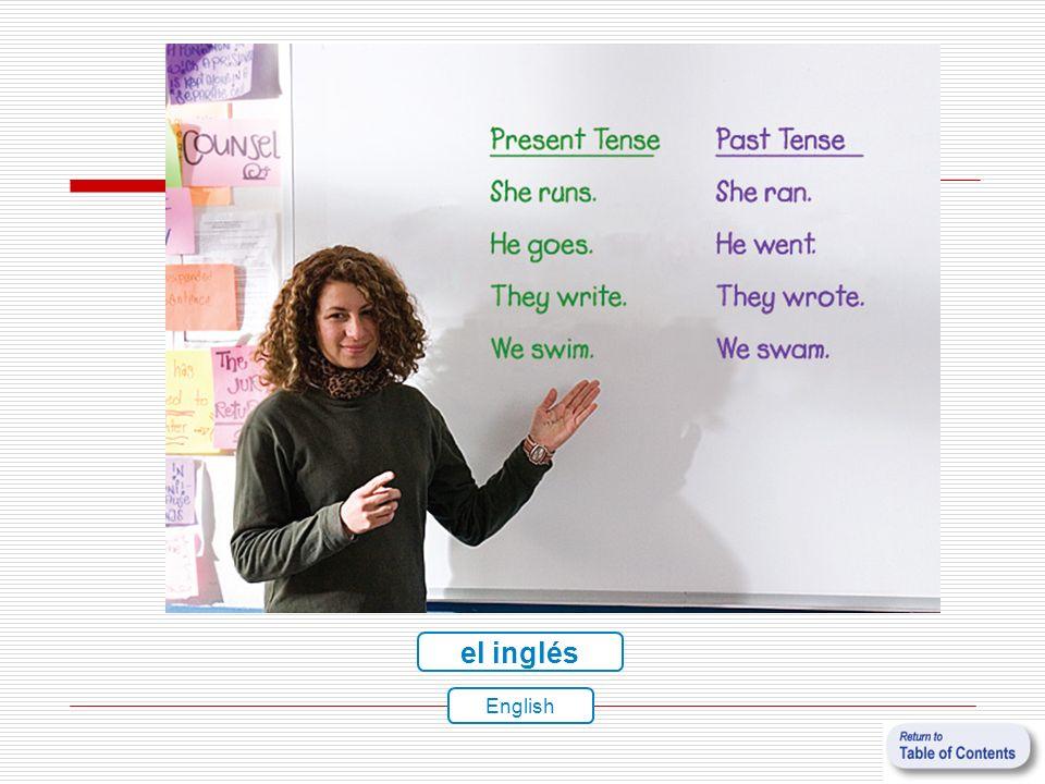 el inglés English
