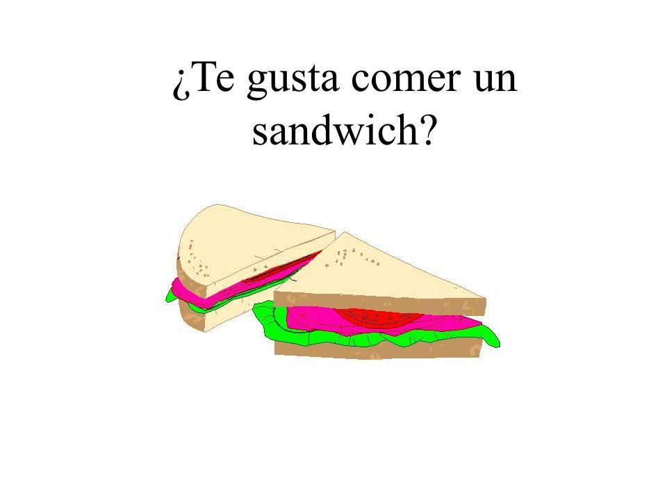 ¿Te gusta comer un sandwich?