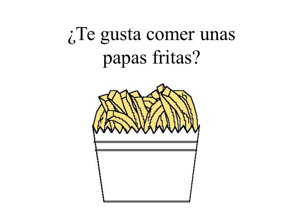 ¿Te gusta comer unas papas fritas?