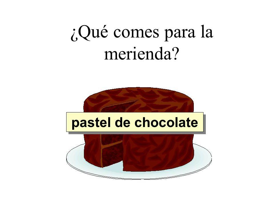 ¿Qué comes para la merienda? pastel de chocolate