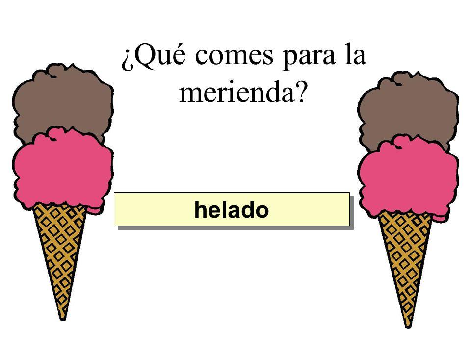 ¿Qué comes para la merienda? helado