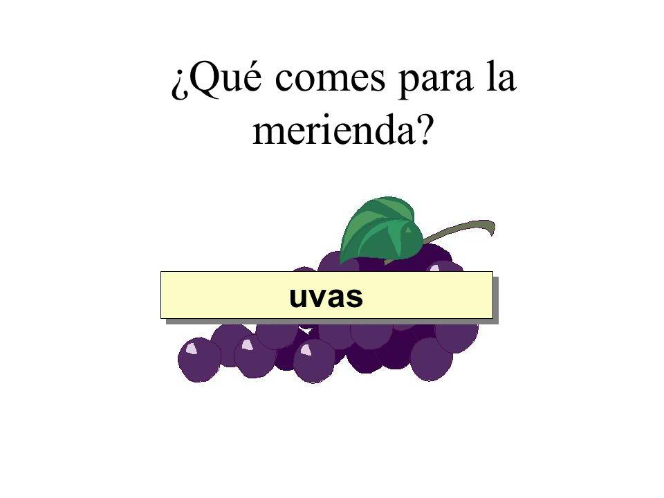 ¿Qué comes para la merienda? uvas