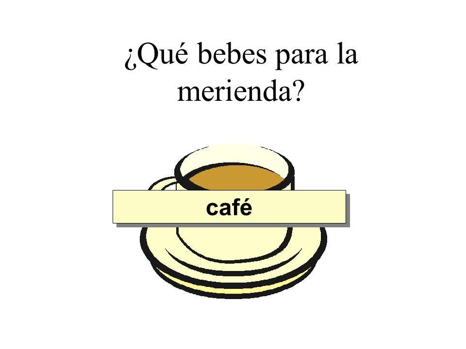 ¿Qué bebes para la merienda? café