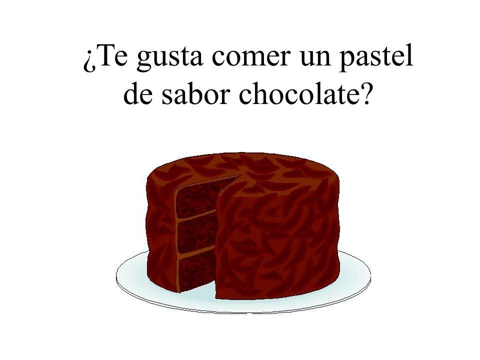 ¿Te gusta comer un pastel de sabor chocolate?