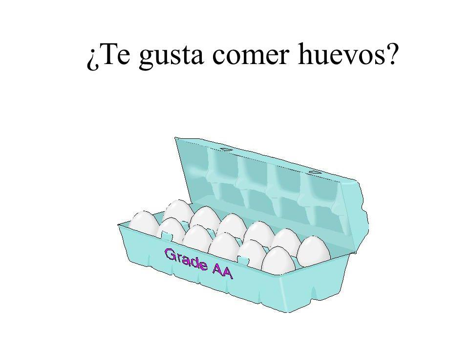 ¿Te gusta comer huevos?